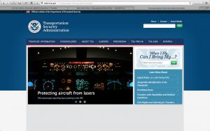 TSA Home Page www.tsa.gov