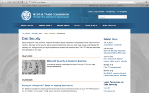 "FTC ""Start with Security"" Webpage"
